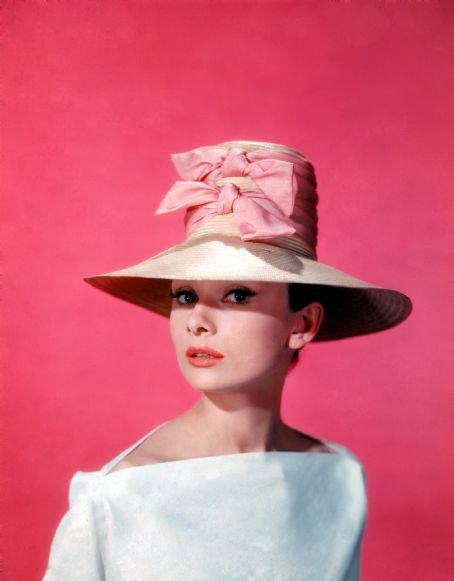 funny-face-audrey-hepburn-pink-hat-publicity-50s-vintage-clothing